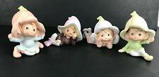 Vintage Homco Figurines Pixies Gnomes Elves Fairies Lot of 4