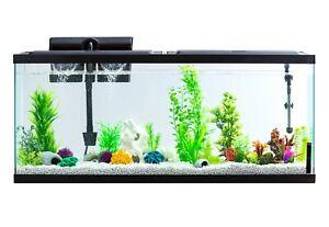 AQUA DELUXE CULTURE 55-GALLON GLASS FISH TANK LED AQUARIUM KIT