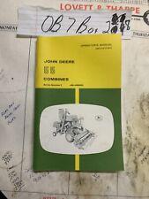 John Deere 55 Combine Operators Manual Om H13157 Vintage Oem Nos