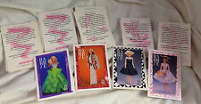 Barbie Fashion Collectable Cards Set - the 50's & 60's fashions