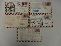 5 NATIONAL AIR MAIL WEEK 1938 COVERS ~ CA, IND, NY, PA, NJ