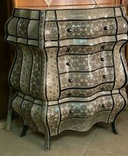 Antique Wood Sideboard Inlaid Mother of Pearl