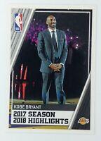 2019-20 Panini Sticker European Edition Kobe Bryant #2, Los Angeles Lakers, HOF