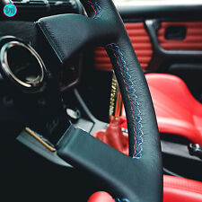 VIILANTE LEGGERA 350mm STEERING WHEEL GENUINE LEATHER TRI-COLOR FITS BMW E36 M3