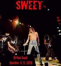 THE SWEET Live Grona Lund Amusment Park Sweden 5-5-1976 CD