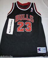 Michael Jordan 23 Chicago Bulls NBA Champion Black Jersey Youth 14-16 Large Boys