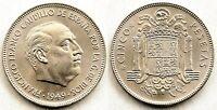 Estado Español. 5 Pesetas 1949*19-49. Madrid. SC/UNC/FDC. Niquel 15 g. Escasa