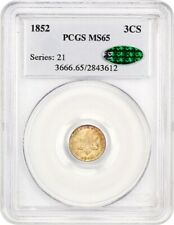 1852 3cS PCGS/CAC MS65 - 3-Cent Silver