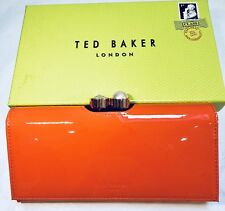 Ted Baker Pearl Bobble Patent Matinee Purse 100% Authentic Mid Red