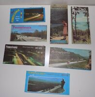 7 Vintage Pennsylvania Road Maps 1960's, 1970's