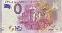 BILLET 0  EURO CHATEAU GUILLAUME LE CONQUERANT FRANCE  2016 NUMERO 100