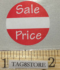 """500 Self-Adhesive Sale Price Round Retail Labels 1"""" Sticker Tags Retail Sales"""