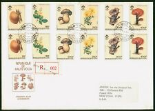 Mayfairstamps Haute Volta 1984 Mushrooms Set Combo Registered First Day Cover ww