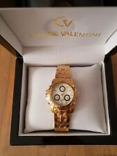Claude Valentini Millennium Sports 18ct Gold Plated Ladies Watch