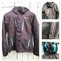 Mountain Warehouse RECCO Size 10 ski Snowboard Jacket Black Blue Good Condition