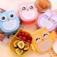 Kids Picnic Cartoon Owl Lunch Box Food Storage Container Student School Bento