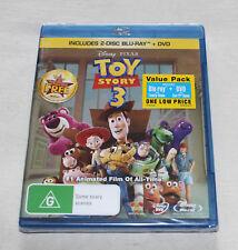 Disney Pixar Toy Story 3 (Blu-ray + DVD, 2010, 3 Disc Set) New Sealed