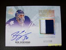 Ben Scrivens SP Authentic Future Watch Limited Auto Patch Rookie Card, 073/100!