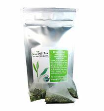 Organic Dragon Well Green Tea loose Leave tea packed in pyramid tea bag  16 pcs