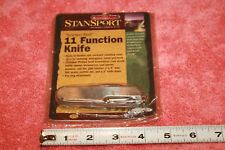 NOS Stansport 11 Function Pocket Knife Stainless Steel
