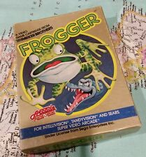 Frogger game in box with manual. intellivision, tandyvision, sears. Great cond.