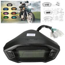 7 Colors DC12V Motorcycle LCD Digital Speedometer Odometer Tachometer Backlight