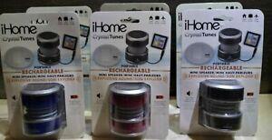 I Home Crystal Tunes Speaker MINI SPEAKER BLK BLUE OR RED For iPod nano