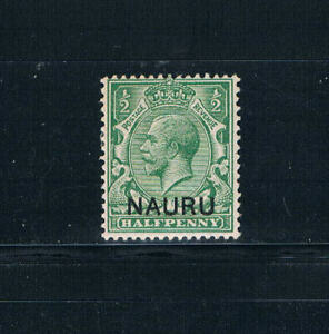 "Nauru - 1916-23 ½d KGV Ovrptd ""Nauru"" w/""Albino Ovrpt"" - SC 1v [SG 1b] Mint 19"
