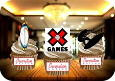 X Games - Surfing - 12 Edible STANDUP Cake Topper Decoration Sports Summer Surf