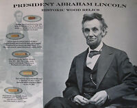 ABRAHAM LINCOLN * 5 Historic Wood Relics * Gettysburg White House Ford's Theater