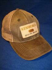 Kenworth Hat:   Black Faux Wax Cotton Truckers Cap    *FREE SHIPPING IN U.S.A.*