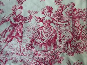 FRENCH  TOILE DE JOUY FABRIC