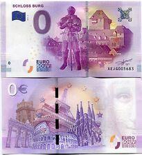 Schloss Burg Castle Germany 0 Euro Souvenir Note 2017 Series 3 Collectible