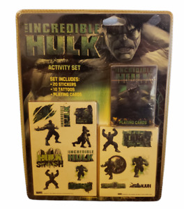 The Incredible Hulk Activity Set Stickers Playing Cards Tattoos Brand New 2008