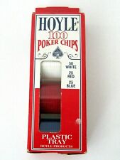 Hoyle 100 Poker Chips with Plastic Tray NEW in Box