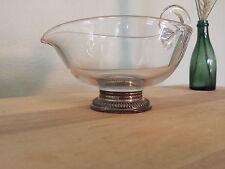 Vintage Glass & Sterling Base Cream Pitcher or Gravy Boat….LOVELY....