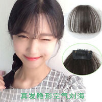 """1PC Bangs New 7"""" Fashion Girls Clips on Front Neat Bang Fringe Hair Extensions"""