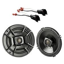 "2x Polk 6.5"" 300W 2 Way Coaxial Speakers, 2x Metra Speaker Adapter (Select Ford)"