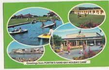 Sand Bay Holiday Camp Weston Super Mare 1981 Postcard, B374