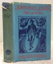 JOHN PAUL JONES: Man of Action - Phillips Russell, 1930, American Revolution
