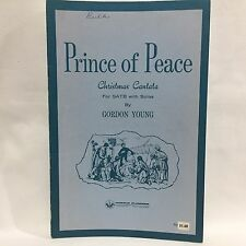 Prince of Peach Christmas Cantata SATB with Solos Young Sheet Music Free Ship
