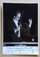 Hans Rosbaud photo dédicacé  1958.