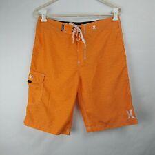 HURLEY Board Shorts Unlined Orange Men's Size 30