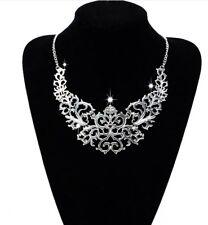 Tour de cou en métal argenté baroque/ Glamour / Mode / Collier / Gothique