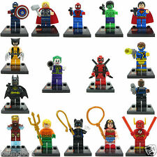 16 Pcs set Dc comic Marvel Mini figures Iron man Captain America Fit with Lego