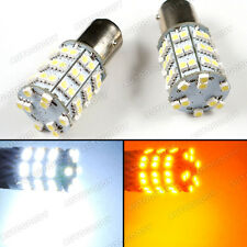 1157 Dual Color LED Switchback Turn Signal Lights 2357 White + Amber Yellow