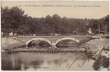 CPA -40-  MIMIZAN-les-BAINS - Le Pont Rouge sur le Courant.