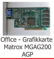 Légendaire AGP 3d carte graphique Matrox Millennium g200 pour windows 7 xp vista Linux