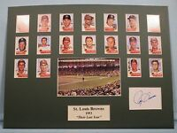 1953 St. Louis Browns - Their Last Year, a team collage signed by Roy Sievers