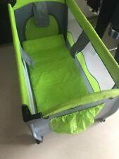 Babybett Kinder Reisebett, 120x60 cm Baby Bett Reise Bett Mobil grün faltbar
